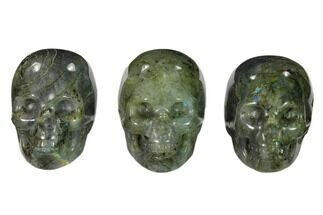 "2"" Polished Labradorite Skulls For Sale, #151385"