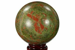 "Buy 3.3"" Polished Unakite Sphere - South Africa - #151918"