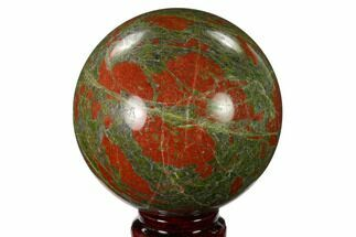 "3.4"" Polished Unakite Sphere - South Africa For Sale, #151922"
