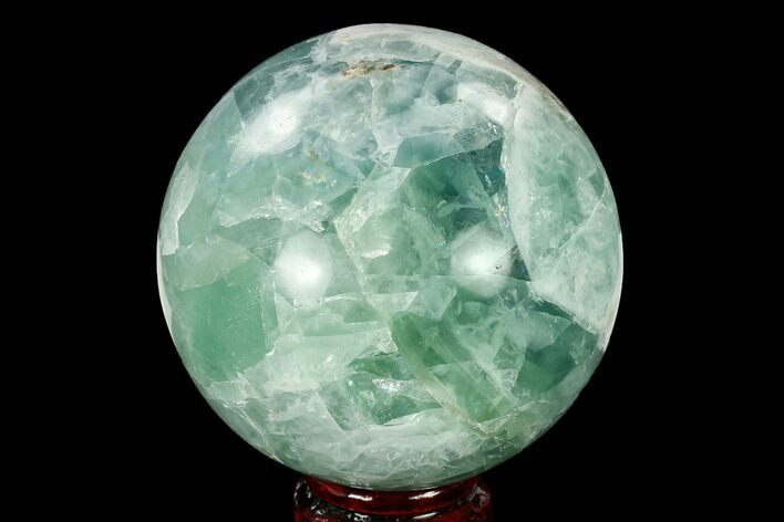 "3.6"" Polished Green Fluorite Sphere - Mexico"