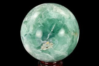"3.7"" Polished Green Fluorite Sphere - Mexico For Sale, #153377"