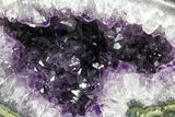 "9.9"" Polished, Purple Amethyst Geode - Uruguay - #152381-1"