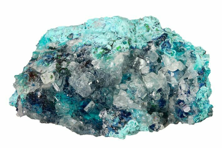 "1.8"" Shattuckite, Chrysocolla and Quartz Association - Mexico"