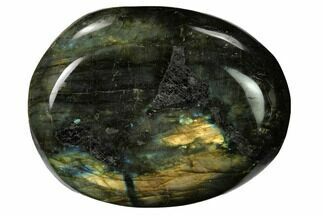 "2.65"" Flashy, Polished Labradorite Palm Stone - Madagascar For Sale, #155708"