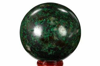 "Buy 2.6"" Polished Malachite & Chrysocolla Sphere - Peru - #156478"