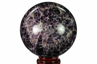 "3.6"" Polished Chevron Amethyst Sphere - Morocco For Sale, #157625"