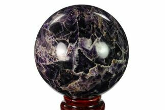 "Buy 3.2"" Polished Chevron Amethyst Sphere - Morocco - #157618"
