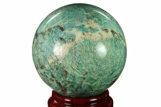 "Buy 4.25"" Polished Graphic Amazonite Sphere - Madagascar - #157699"