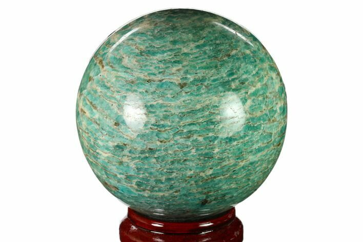 "5"" Polished Graphic Amazonite Sphere - Madagascar"