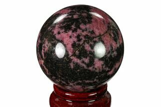 Rhodonite with Manganese Oxide - Fossils For Sale - #157977