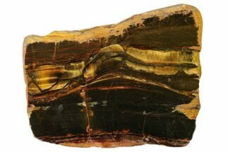 "4.9"" Polished ""Packsaddle"" Tiger Eye Slab - Western Australia For Sale, #161909"
