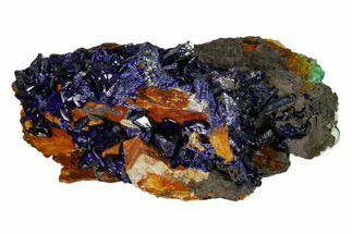 "2.4"" Azurite Crystals with Malachite & Chrysocolla - Laos For Sale, #162578"