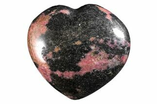 Rhodonite with Manganese Oxide - Fossils For Sale - #160461