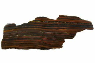 "11.9"" Polished Tiger Iron ""Stromatolite"" Slab - 3.02 Billion Years For Sale, #161888"