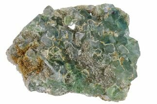 "Buy 4.6"" Cubic, Blue-Green Fluorite Crystals on Quartz - China - #163240"