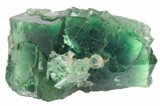 "Buy 2.6"" Apple-Green Cubic Fluorite Crystal Cluster - China - #163567"