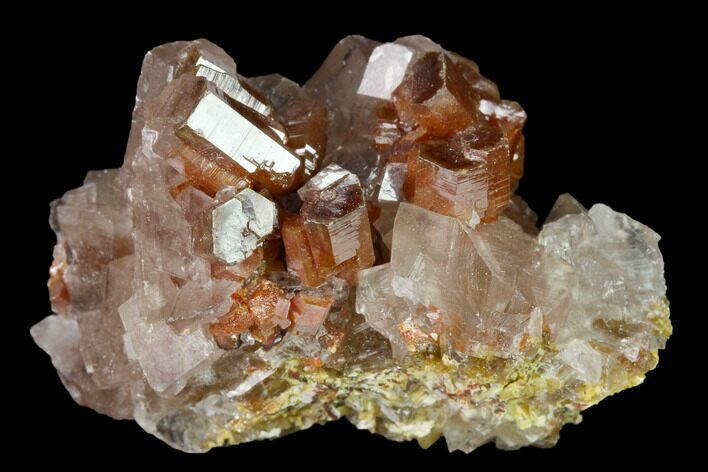 "1.6"" Vanadinite and Calcite Crystal Association - Apex Mine, Mexico"