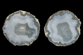 "2.6"" Las Choyas ""Coconut"" Nodule with Banded Agate - Mexico For Sale, #165380"