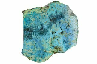 "2"" Polished Blue River Chrysocolla Slice - Arizona For Sale, #167537"