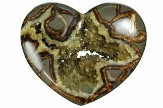 "4.9"" Polished Utah Septarian Heart - Beautiful Crystals For Sale, #167861"