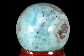 "Buy 1.3"" Polished Larimar Sphere - Dominican Republic - #168121"