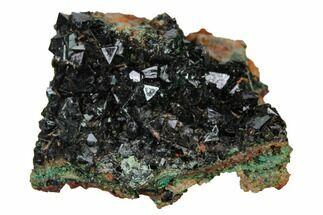 ".85"" Deep-Green Libethenite Crystal Cluster For Sale, #169805"