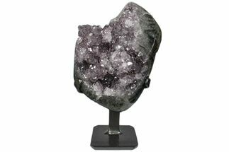 "Buy 6.6"" Amethyst Geode Section on Metal Stand - ""Stalactite"" Formations - #171778"