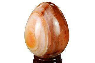 "3"" Colorful, Polished Carnelian Agate Egg - Madagascar For Sale, #172730"