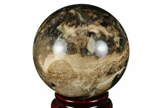 "Buy 2.5"" Black Opal Sphere - Madagascar - #168406"