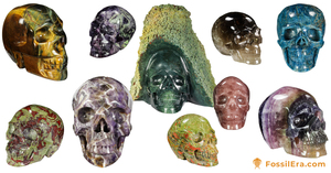 New Product - Carved Crystals Skulls