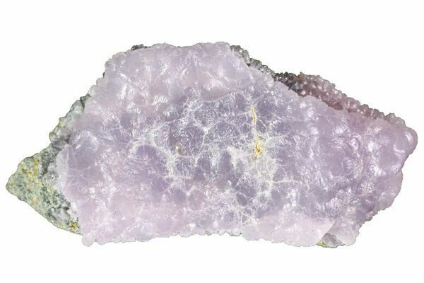 A botryoidal formation of translucent, pink-purple smithsonite from Chihuahua, Mexico.