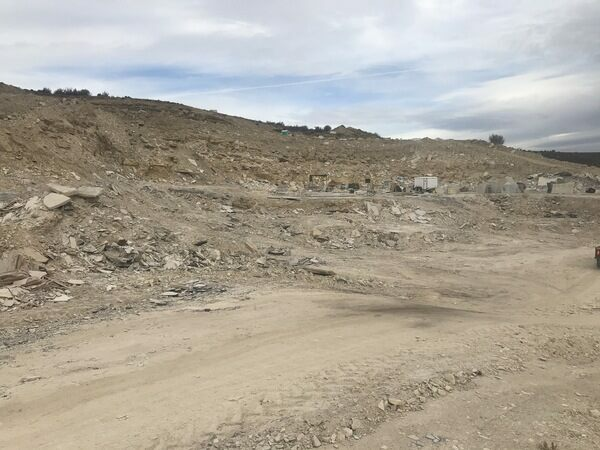 A view of one of the commercial quarries where fossils from the Green River Formation are collected.