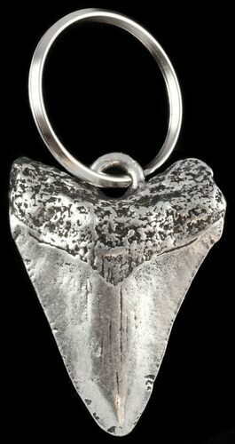 Replica Megalodon Tooth Metal Keychain  - Photo 1