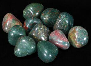 Bulk Polished Bloodstone (Heliotrope) - 8oz. (~ 11pc.)