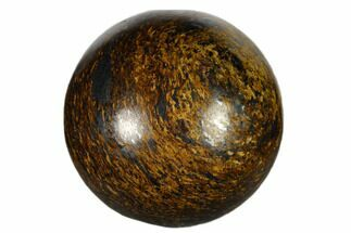 ".9"" Small, Polished Bronzite Sphere"