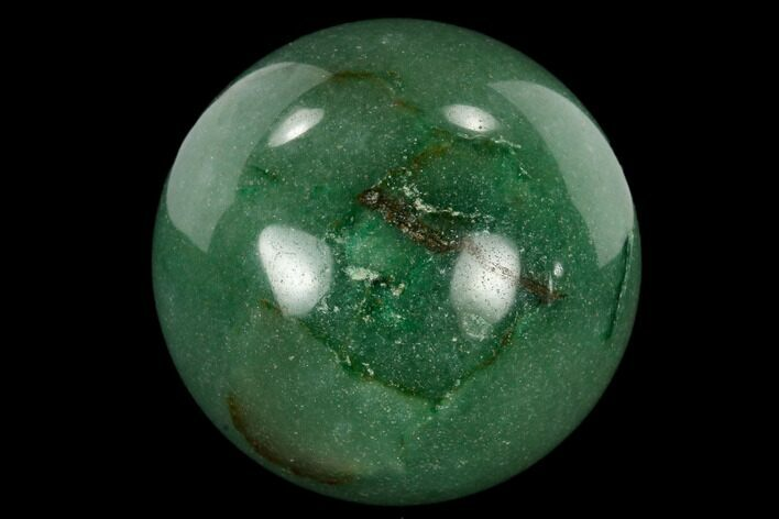 "1.2"" Polished Green Aventurine Sphere - Photo 1"