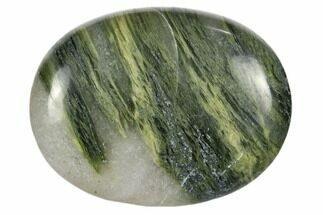 "1.8"" Polished Green Hair Jasper Pocket Stone"