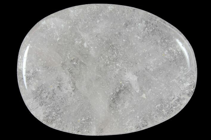 "1.8"" Polished Clear Quartz Flat Pocket Stone  - Photo 1"
