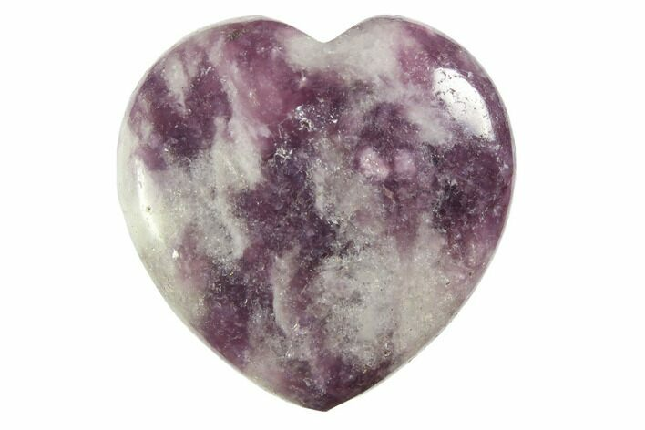 "1.2"" Polished Lepidolite Hearts - Photo 1"