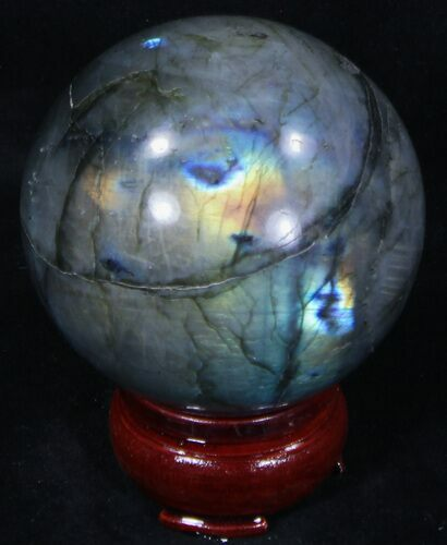 "2.58"" Flashy Labradorite Sphere - Great Color Play"