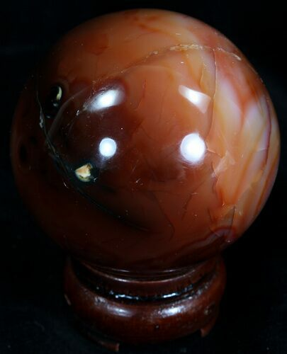 "2.48"" Colorful Carnelian Agate Sphere"
