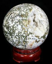 "Buy 2.68"" Unique Ocean Jasper Sphere - Crystal Cavities - #32161"
