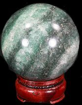"2.54"" Aventurine (Green Quartz) Sphere - Glimmering For Sale, #32147"