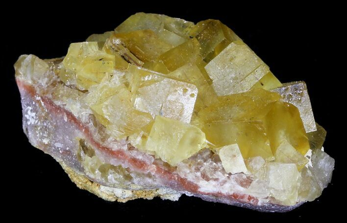 "2.35"" Lustrous, Yellow Cubic Fluorite Crystals - Morocco"