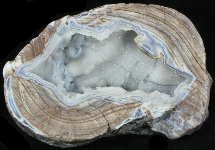 "5.7"" Crystal Filled Dugway Geode (Polished Half)"