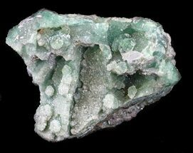 "2.7"" Green Fluorite & Druzy Quartz - Colorado For Sale, #33368"