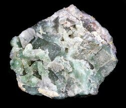 "1.7"" Green Fluorite & Druzy Quartz - Colorado For Sale, #33383"