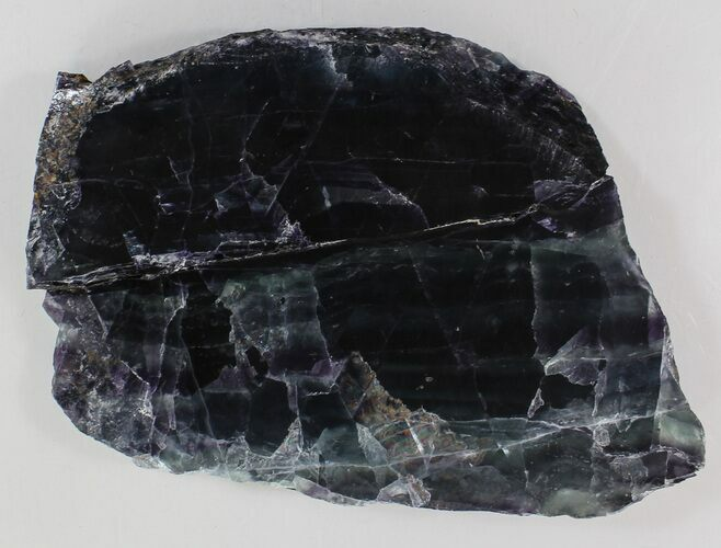 "5.8"" Polished Fluorite Slab - Purple & Green"