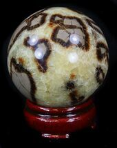 "Beautiful 2.93"" Polished Septarian Sphere  For Sale, #36053"