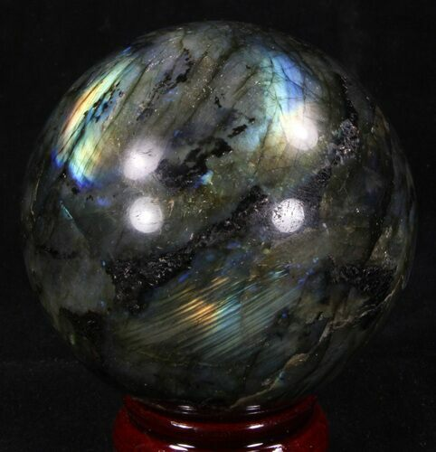 "2.95"" Flashy Labradorite Sphere - Great Color Play"